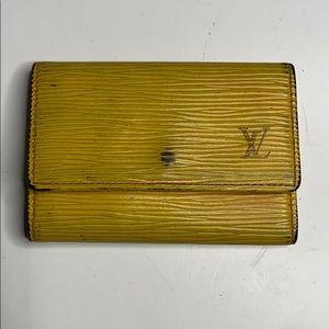 Louis Vuitton key holder yellow